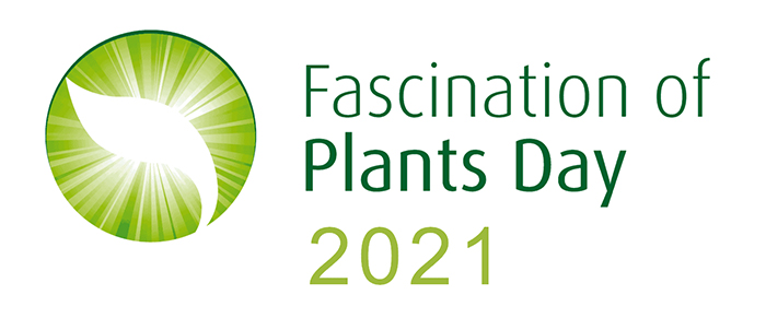 Logo akcji z napisem Fascination of Plants Day 2021